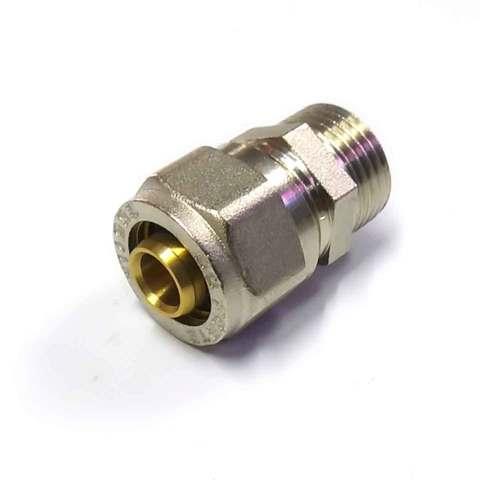 Муфта  для металлопластиковых труб  разборная  16*1/2 наружная резьба SD Forte