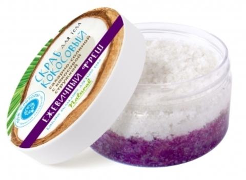 Кокосовый сахарно-соляной скраб «ЕЖЕВИЧНЫЙ ФРЕШ»