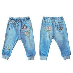 Папитто. Комплект кофточка и штанишки с птичкой для девочки FASHION JEANS вид 4