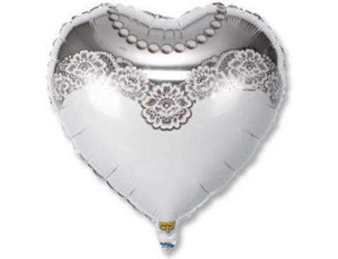 Фольгированный шар сердце Невеста