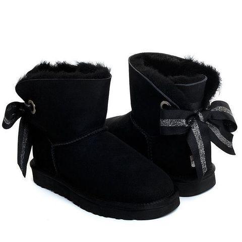 UGG Bailey Bow Mini Customizable Black