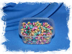 Цветные окрашенные мелкие ракушки