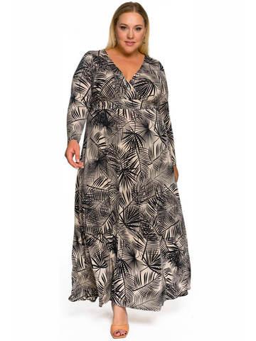 Длинное платье Тропический принт