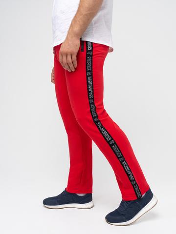 Спортивный костюм «Мастер» красного цвета. Лёгкий футер.