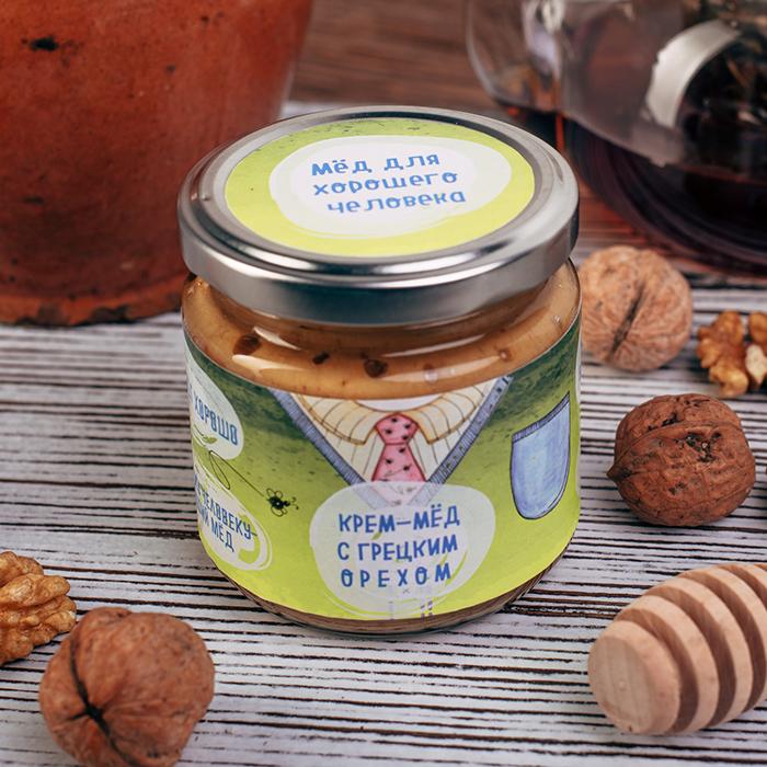 Купить крем-мед суфле в Перми ДЛЯ ХОРОШЕГО ЧЕЛОВЕКА С ГРЕЦКИМ ОРЕХОМ