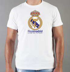 Футболка с принтом FC Real Madrid (ФК Реал Мадрид) белая 006