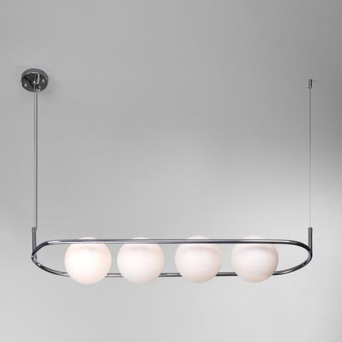 Подвесной светильник со стеклянными плафонами 50089/4 хром