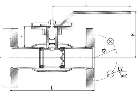 Схема LD КШ.Ц.Ф.Regula 080.016.П/П.02 Ду80 регулирующий полный проход