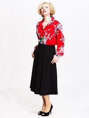 U149-9 юбка женская, черная