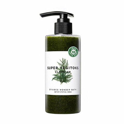 Wonder Bath Super Vegitoks Cleanser-Green Увлажняющий детокс-гель