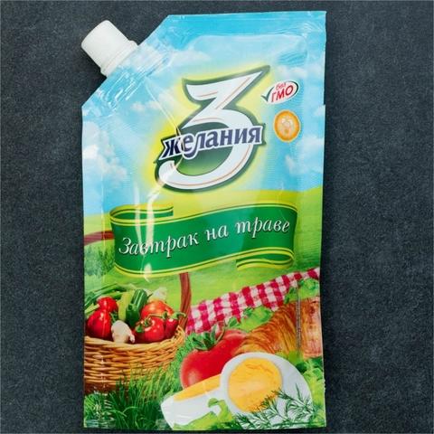 Майонез 3 ЖЕЛАНИЯ Завтрак на траве 190 гр КАЗАХСТАН