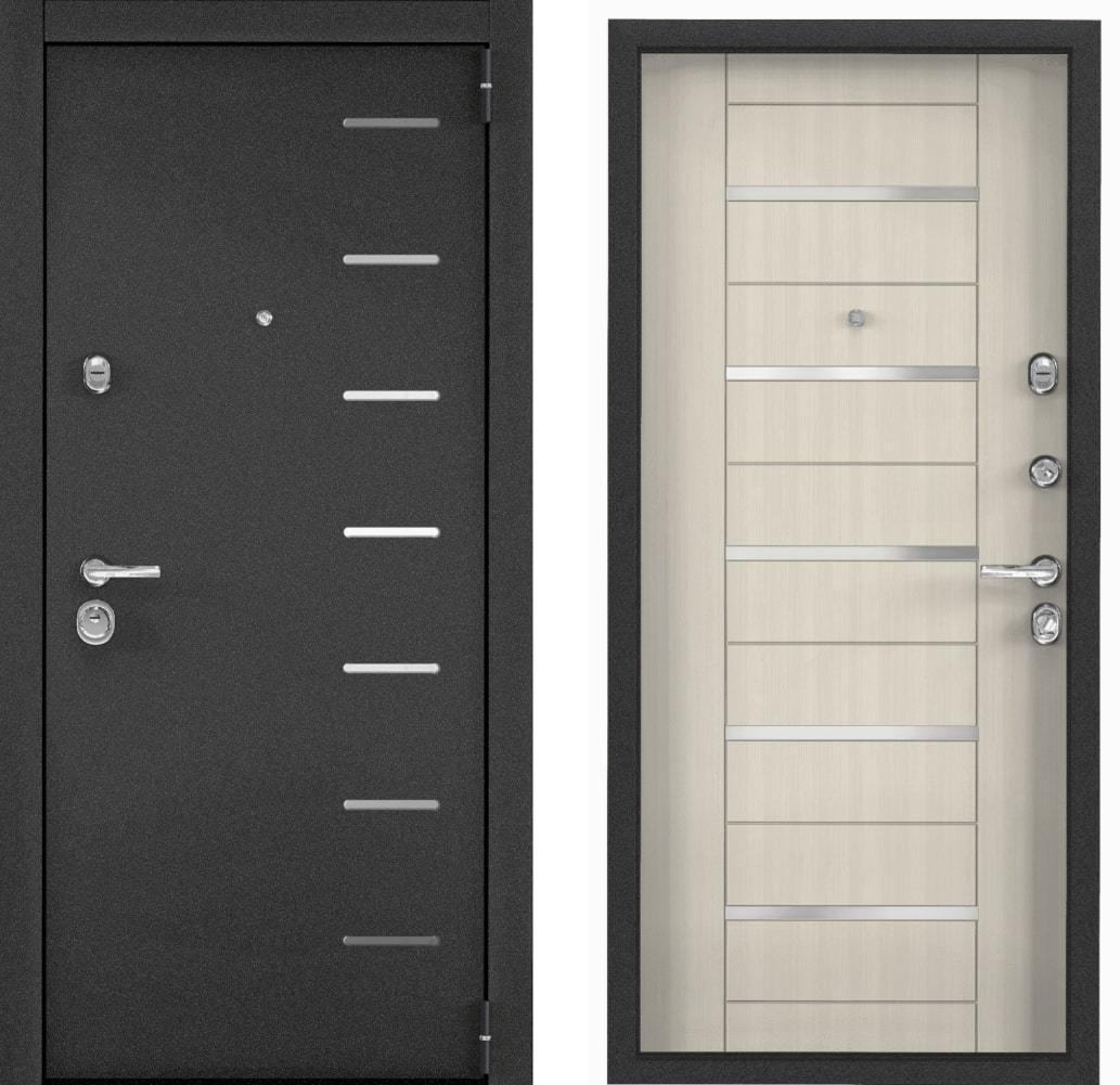 Входные двери Входная дверь Torex Super Omega 100 RP13 чёрный муар металлик SO-KB-6 ПВХ белый перламутр SUPER_OMEGA_100-3.jpg