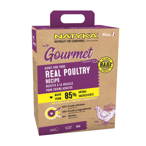 Natyka Gourmet Dog Adult Poultry Сухой корм для собак с птицей