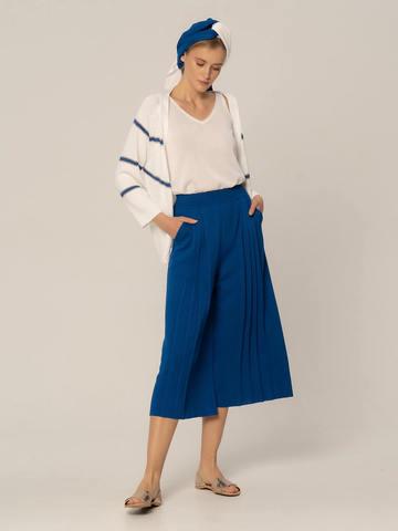 Женские брюки синего цвета из вискозы - фото 2