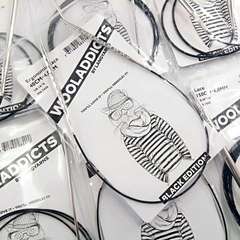Спицы круговые Lang Yarns супергладкие WOOLADDICTS  Classic 100 см