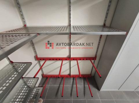 Проект № 23: хозблок 8,2 кв.м (полки, шкафы, колеса, велосипеды, лыжи)