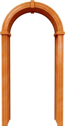 Арка стандарт 450 ПВХ (миланский орех), фабрика Европейские арки