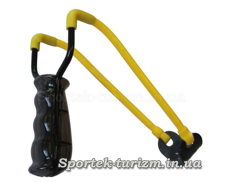 Рогатка Man Kung MK-T5 чорна ручка і жовта гумка