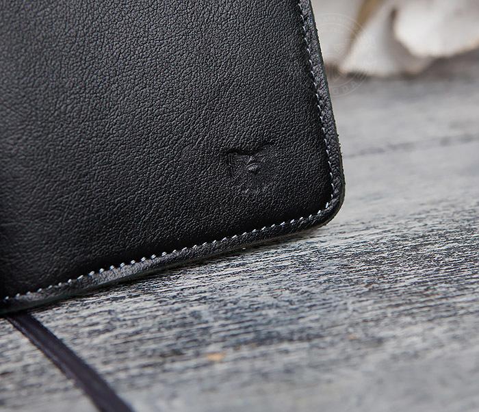 BC136-1 Кожаный блокнот ручной работы со сменным блоком (А6) фото 05