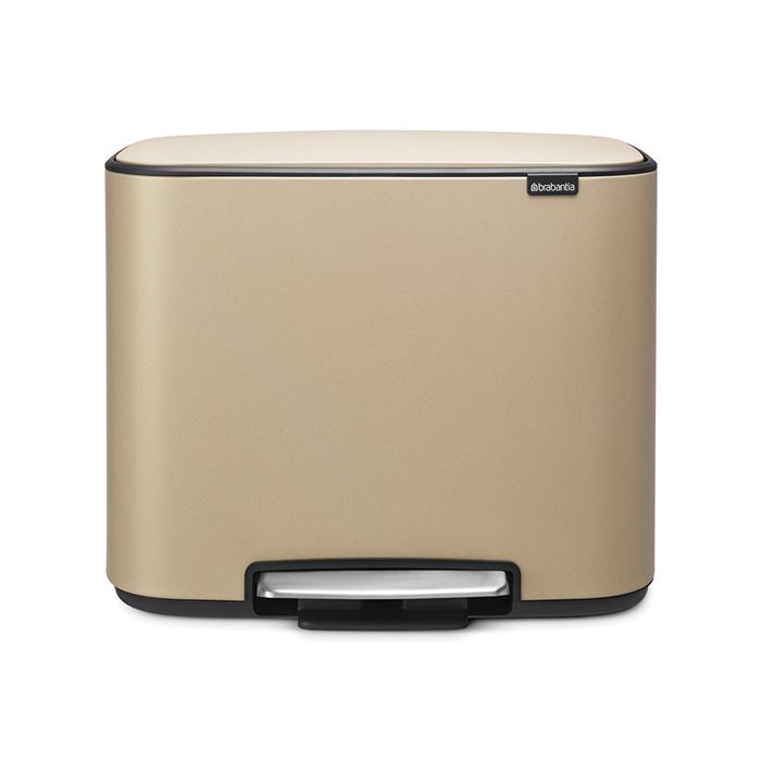 Мусорный бак Bo  (3 x 11 л), Минерально-золотой, арт. 121500 - фото 1