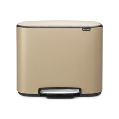 Мусорный бак Bo  (3 x 11 л), Минерально-золотой