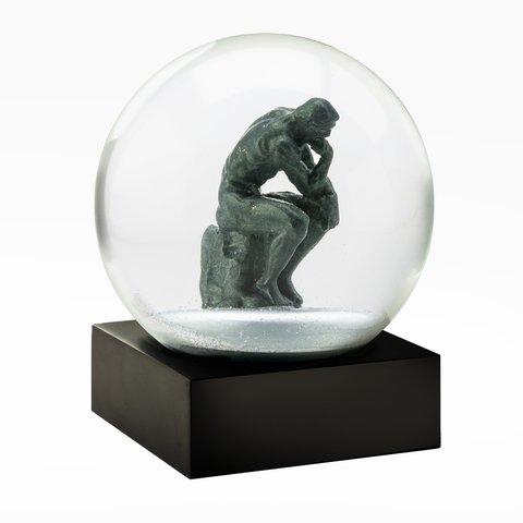 Коллекционный стеклянный снежный шар Мыслитель