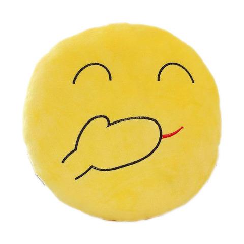 Подушка Emoji HaHa (Эмоджи ХаХа / Хихи / HiHi, 28 см)