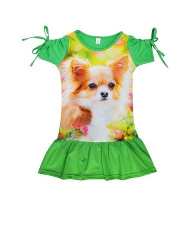 Платье с собачкой детское трикотажное