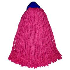 Насадка МОП веревочная Премиум Big хлопок/вискоза 32 см розовая