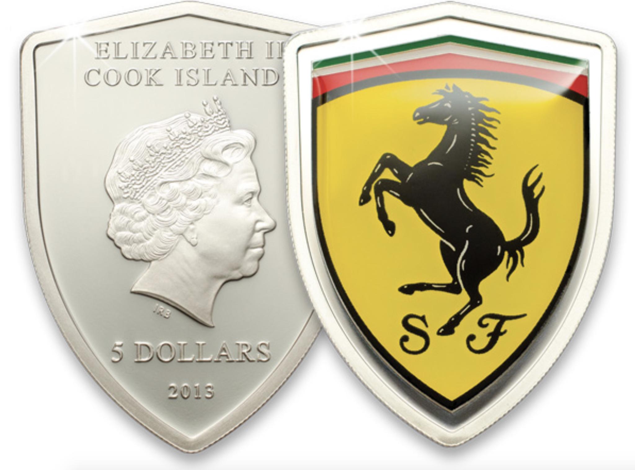 5 долларов. Ferrari 2013 (Феррари 2013). Острова Кука
