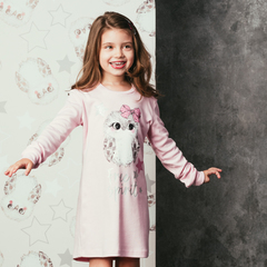 Детская женская ночная сорочка E19K-64X101