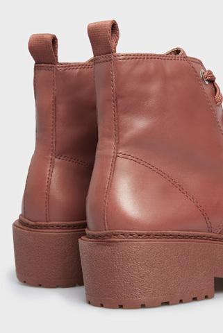 Женские терракотовый кожаные ботинки Arezzo
