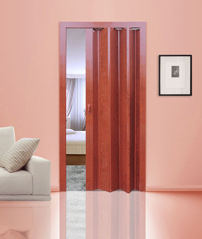 Дверь гармошка вишня