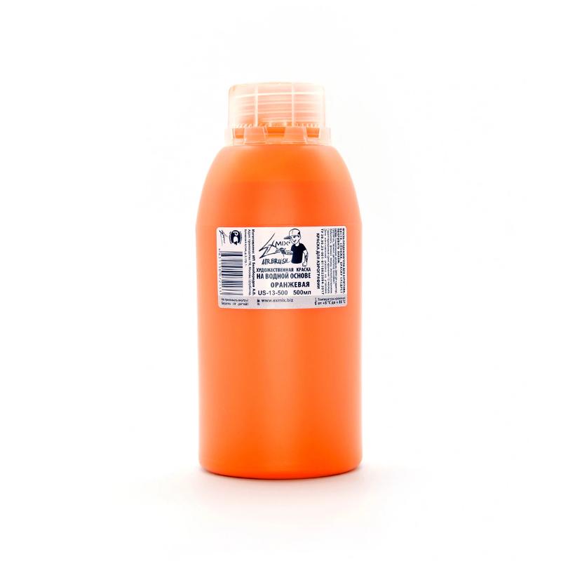 Базовые цвета Краска укрывистая Exmix 13 Оранжевый 500 мл оранж_500.png