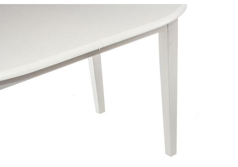 Стол деревянный кухонный, обеденный, для гостиной раскладной Lugano butter white 120 - 150*120 - 150*76 Butter white