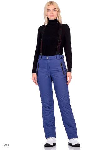 Горнолыжные женские брюки BATEBEILE синего цвета