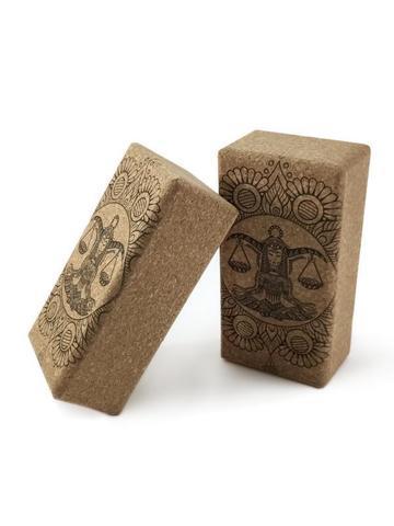 Кирпичи для йоги из пробки Zodiac Collection