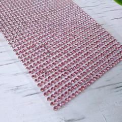 Стразы на клеевой основе 90х430 - розовые