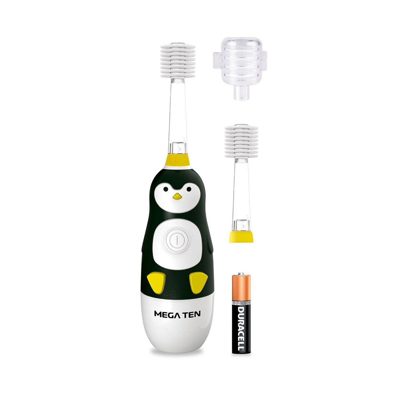 Набор зубная электрическая щетка «Пингвинёнок» Megaten Kids Sonic