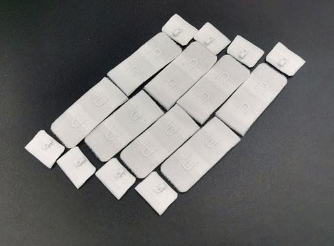 Застежка, ОПТ,  1х2, белые, 1,9см (Арт: Z1-001), 50 шт