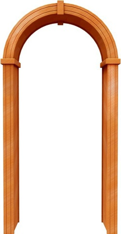 Арка стандарт 200 ПВХ (миланский орех), фабрика Европейские арки