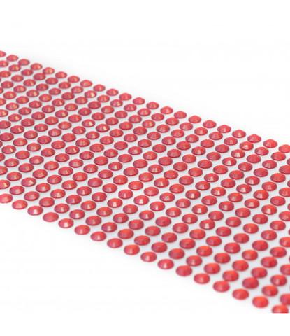 Стразы красные 5 мм длинные