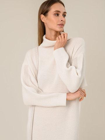 Женское платье молочного цвета из шерсти и кашемира - фото 3