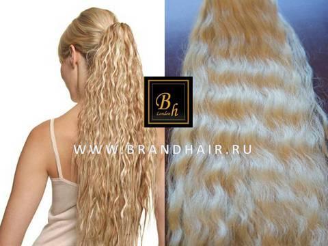 Накладной шиньон оттенок 613 блонд-52CM из натуральных волос