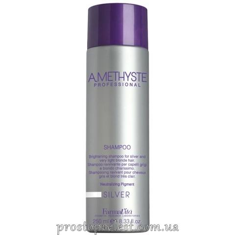 Farmavita Amethyste Silver Shampoo - Шампунь для освітленого та сивого волосся