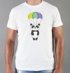 Футболка с принтом Панда, Медвежонок (Panda) белая 0023