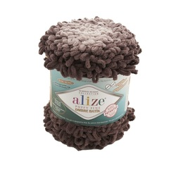 Пряжа Alize Puffy Fine Ombre Batik цвет 7243