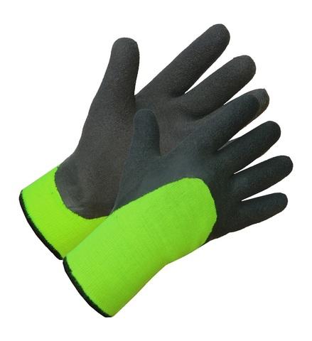 Перчатки двойные трикотажные с покрытием из натурального вспененного латекса