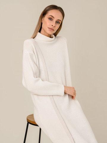 Женское платье молочного цвета из шерсти и кашемира - фото 5