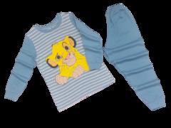 39D-1 пижама детская, серо-голубая